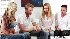 Horny relatives like sharing and caring