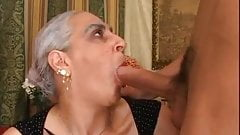 Italian granny Tina Monti BIG young cock