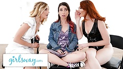 GIRLSWAY Fight Turns Into Amazing Threesome In Purgatory