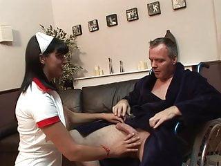 Adult lighweight wheelchair - Horny nurse bends over a wheelchair to recieve a hard cock
