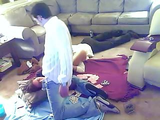 Threesome sex coupon Threesome sex in living room.mp4