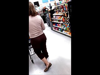 Brown striped pants Pawg milf bubble in brown lace pants