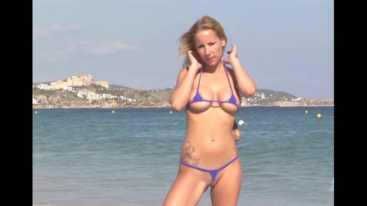 Adult gallery public beach micro bikinis