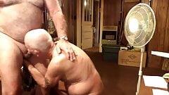 Grandpa John sucking cock (80 years)