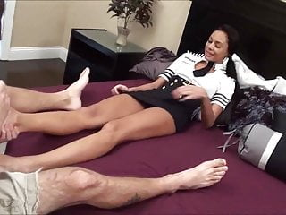 French flight attendant strip - Flight attendant footjob