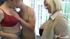 Lesbian Matures with young