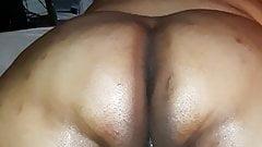 Black SSBBW Milf Shows Her Hairy Pussy
