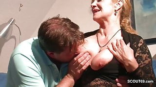 Monster Cock StepSon Seduce Hot German Mother to Fuck