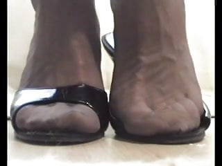 4 foot fluorescent strips t12 - P 4-4 - foot fetish: my feet in stockings with open mules
