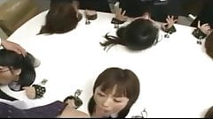 japanese blowjob 6 asian girls bound to table face fucked