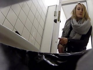 College toilet fuck Student goes to toilet in college and shows her red thong