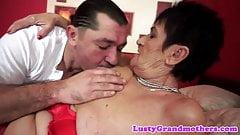 Bigass grandma orally pleasured and fucked