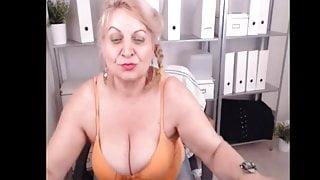 Webcam Woman in Grey Pantyhose