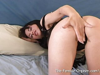 Hairy pussy female Girl has real wet contracting pussy female orgasm