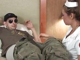 Nurses cock treatment Nurse gives patient a complete treatment