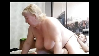 mother-in-law sat on a cock from above 3