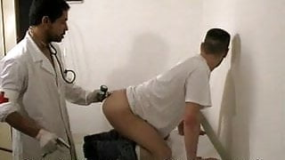 Patient taste doctor's meat during anal exam