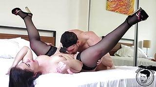 Rough orgy, rimjob, spanking, facial, huge ass - Montse Swinger