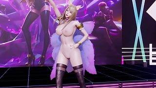 R18-MMD Bestie - Love Options Ahri Uncensored 3D Nude Dance