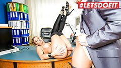 BUMS BUERO - German MILF Izzy Mendosa Gets A Rough Fuck At Work