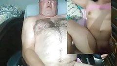 Masturbando enquanto vejo eu foder minha esposa em vídeo chamada