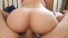 Hard-Bodied Young Tattooed MILF Fucks Huge Old Cock