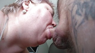 mother-in-law loves it when I fill her mouth with cum 16