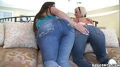 Naughty duo in tight jeans!