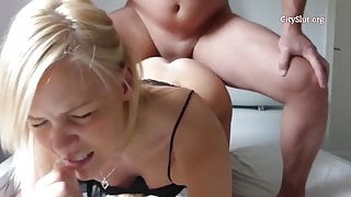 Homemade anal with blonde bitch
