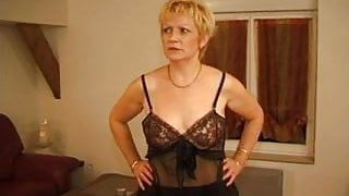 FRENCH MATURE 7 blonde stepmom milf and a young man
