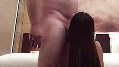 Asian girl adores hard white cock