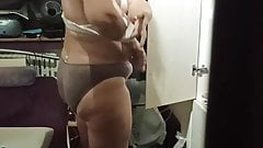 My chubby mature wife dresses