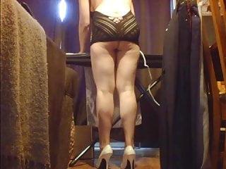 Sexy housework Housework ironing upskirt in heels lingerie ass flashing