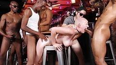 Riley Nixon Gangbanged In The Local Bar - Cuckold Sessions