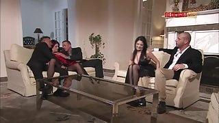 Black Stockings Alison Star & Luna Gold Group Sex FFMMM