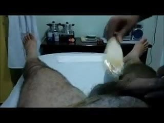 Fleshlite hand job Getting pubes waxed with a hand job