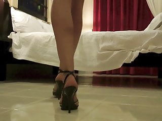 Ebony foot job tg Heels and foot job