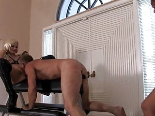 Bdsm forced eating 2 mistresses, one slave forced to pussylicking