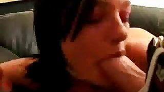Belladonna blows two hard cocks for facial