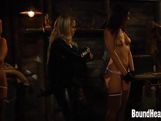 Auction site sexual cybercrimes - Lesbian mistress setting value on slaves for auction