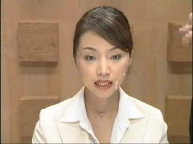 XXX image hot porn asian news anchor facial
