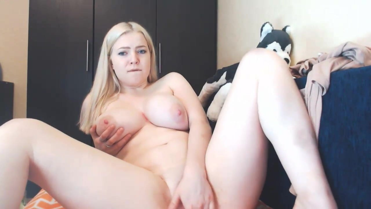Chubby Blonde Big Natural Tits
