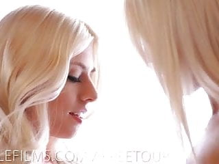 Sexy love making music Sexy blondes make hot lesbian love