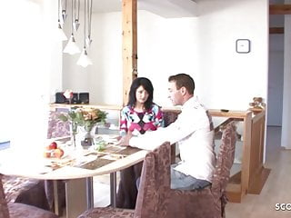 Retro mom fuck - German mother seduce to fuck for money by the young landlord