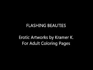 U k lingerie Flashing beauties - erotic artworks by artist kramer k.