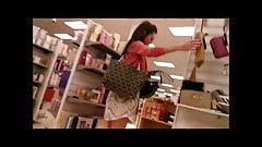 Sexy Brunette Shopping Upskirt