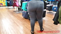 Candid creep big ass ebony milf employee