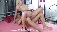 CLUBXFLAT- horny MILF fucked the pierced pussy