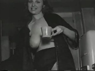 40 s fucking Big breasted nudie cutie from 40s