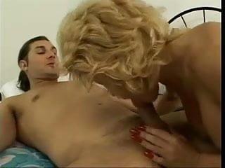 Hose penis Busty blonde skinny milf in open hose fucks